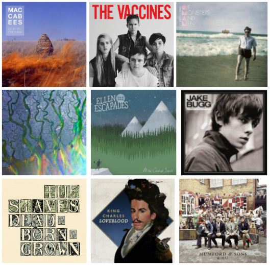 2012 album covers